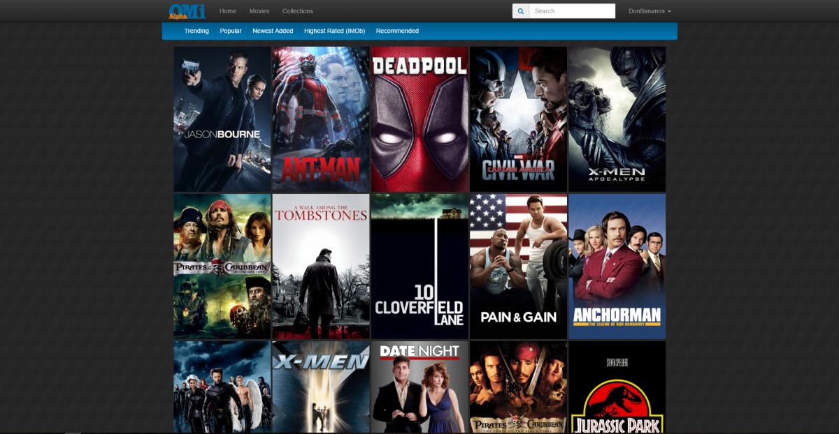 Online Movie Index Screenshot